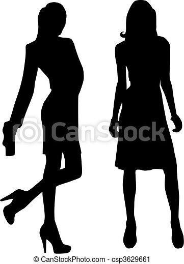 Silhouette fashion girls - csp3629661