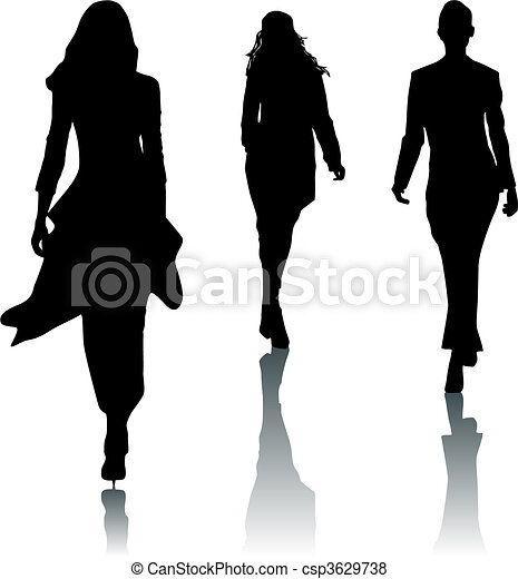 Silhouette fashion women - csp3629738