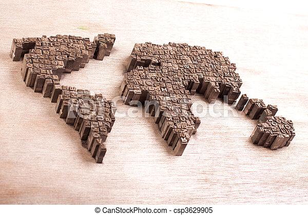 Earth metal script map - csp3629905