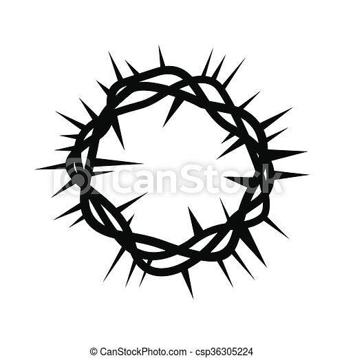 Clipart Di Semplice Nero Corona Spine Icona