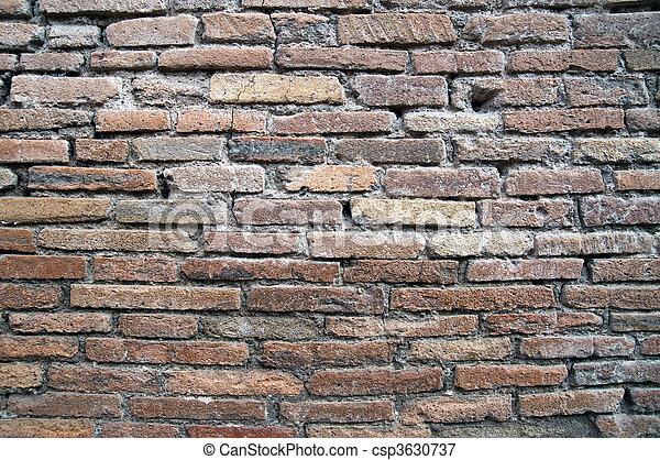 mur, brique, fond - csp3630737
