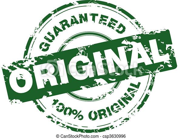 Green grunge stamp - csp3630996