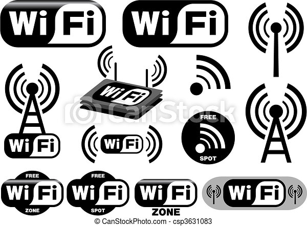 vector collection of wi-fi symbols - csp3631083