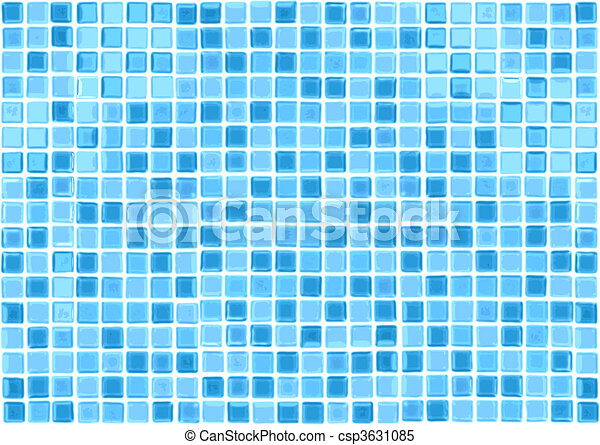 Vector Seamless Blue Tiles Background - csp3631085