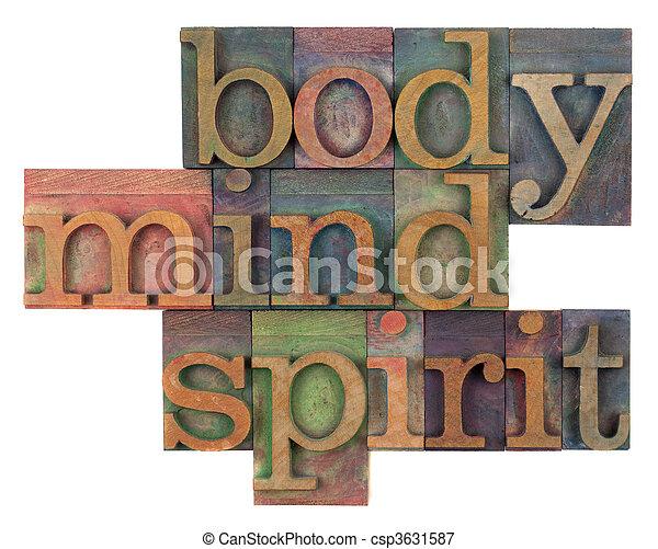 body, mind and spirit concept - csp3631587