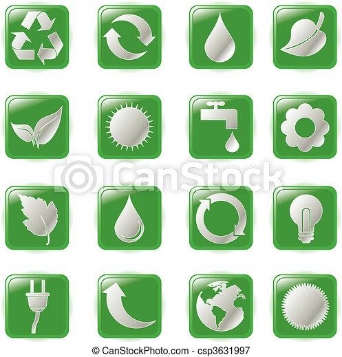 green environmental bubbles - csp3631997