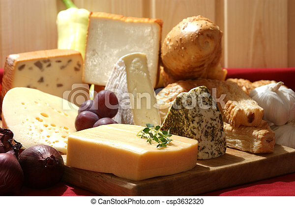 cheese platter with some organic fresh cheese - csp3632320