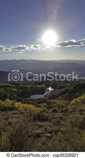 Mountain Pond - csp36326921