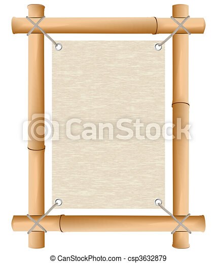 Rice paper in a framework from a bamboo - csp3632879