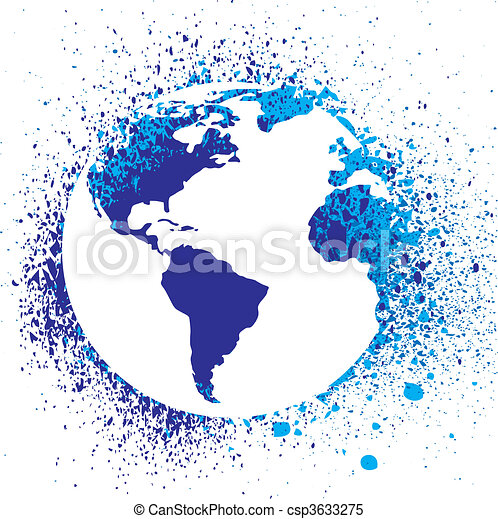 Ink Splatter Logo Globe Ink Splatter