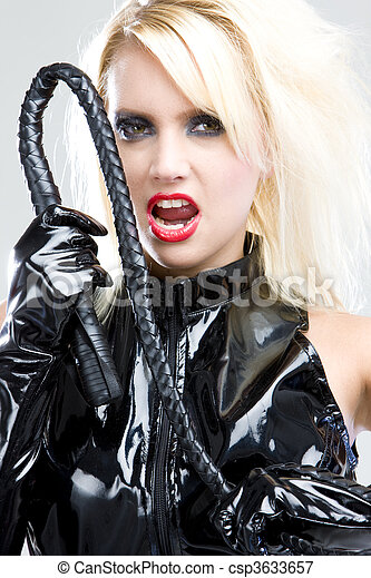 woman in latex - csp3633657