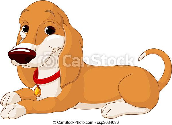 Cute lying dog - csp3634036