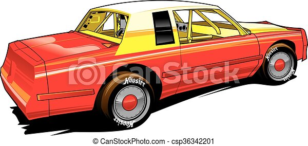 Vector Clipart Of Hobby Racer Stocl Car Vectpr Stock Car