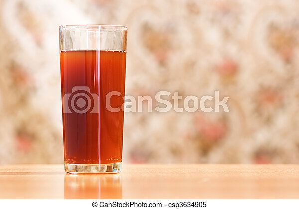 glass with carbonated drink - csp3634905