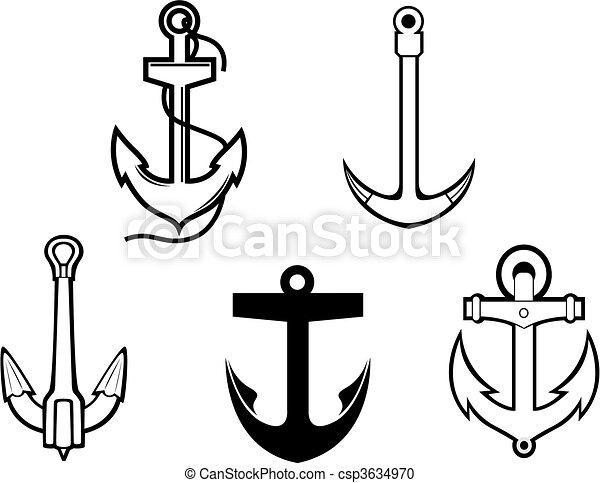 Set of anchor symbols - csp3634970