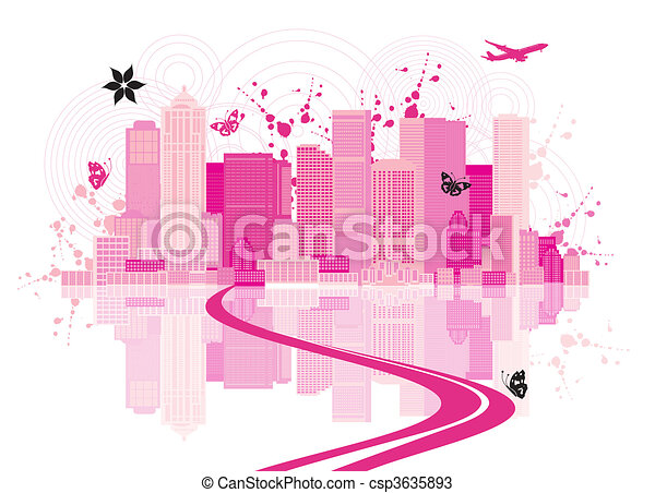 Cityscape background, urban art - csp3635893