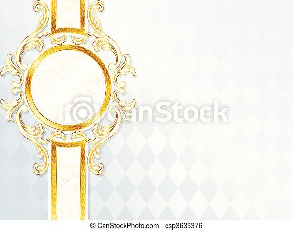 Beautiful rococo wedding banner - csp3636376