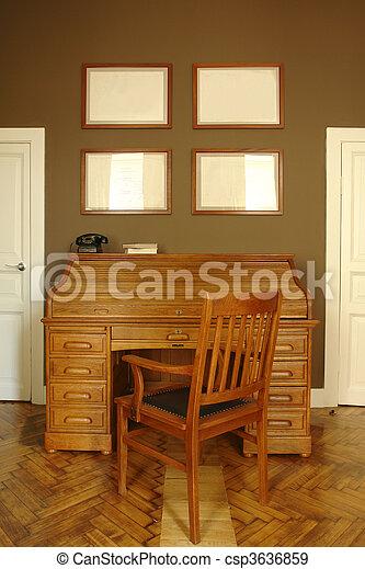 Stock fotografieken van interieur thuis kamer kantoor interieur van een csp3636859 - Kamer kantoor ...