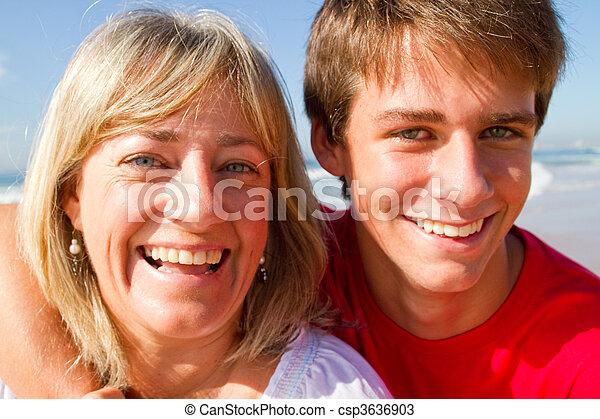 mãe, adolescente, filho - csp3636903