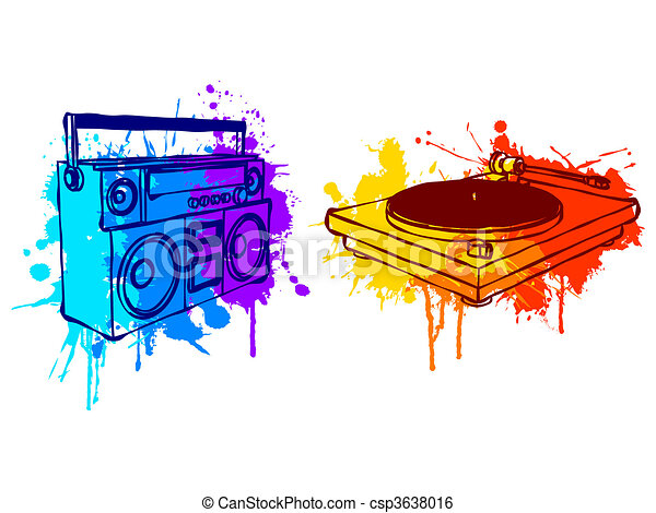 Boombox Vector Clipart EPS Images. 503 Boombox clip art vector ...