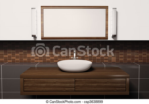 illustration de lavabo miroir 3d washbasin miroir et. Black Bedroom Furniture Sets. Home Design Ideas