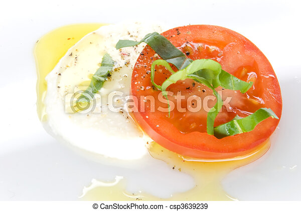 mozzarella tomato oil - csp3639239