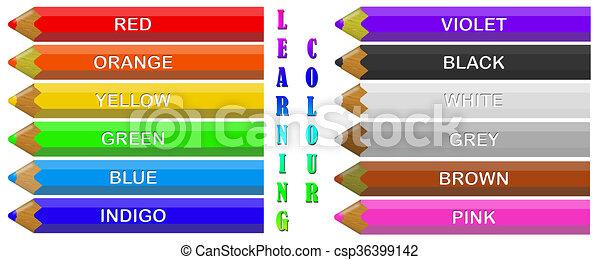 Coloured Crayons - csp36399142