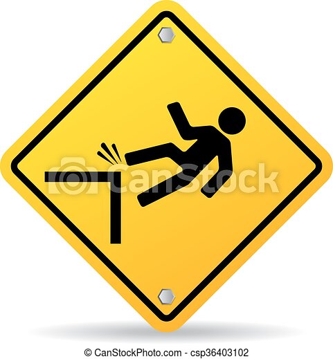 Danger cliff sign - csp36403102