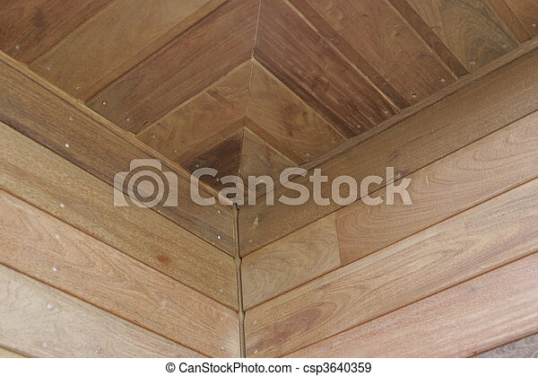 part of a wood house construction - csp3640359