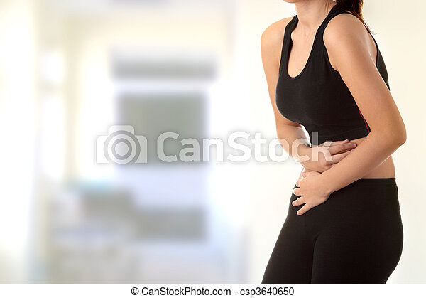 Woman with stomach issues - csp3640650