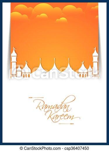 Ramadan Kareem Abstract - csp36407450