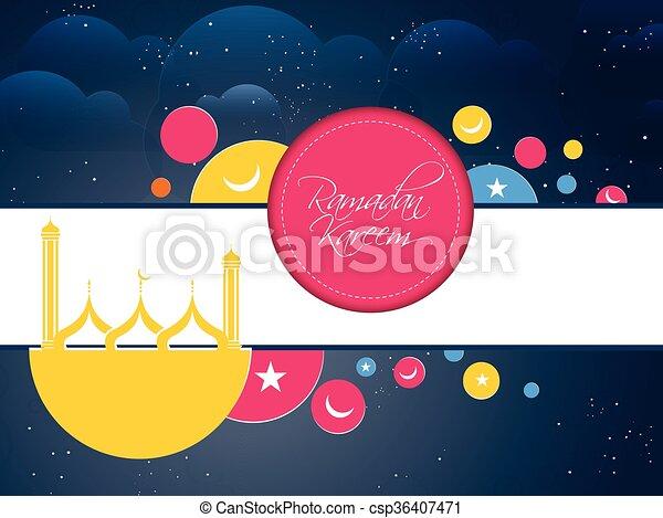 Ramadan Kareem Abstract - csp36407471