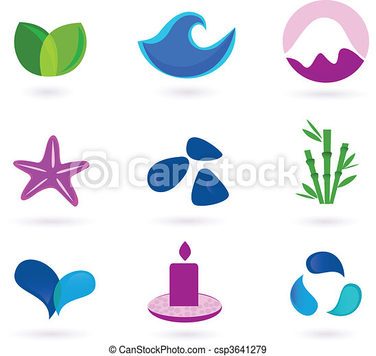 Wellness and relaxation icons - csp3641279