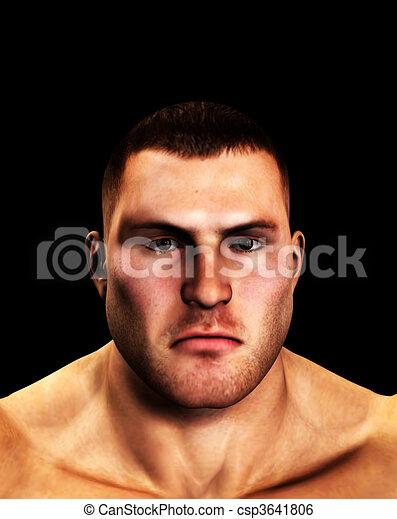 Tough Mans Face  - csp3641806