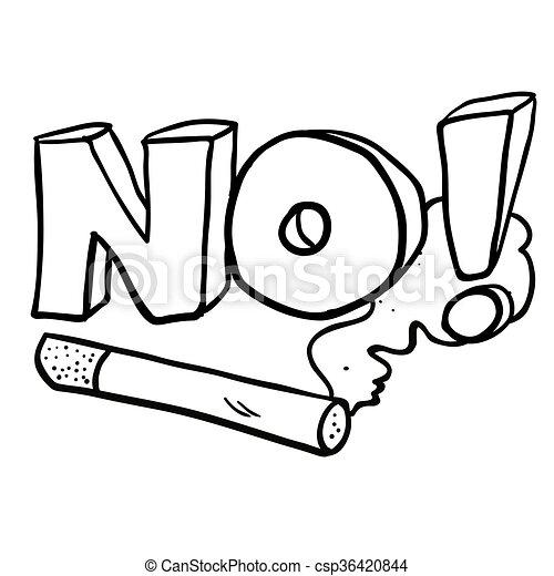 Vecteur eps de non signe cigarette noir fumer blanc for Dessin graphique noir et blanc