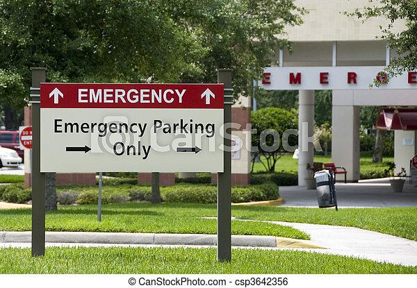Emergency entrance - csp3642356