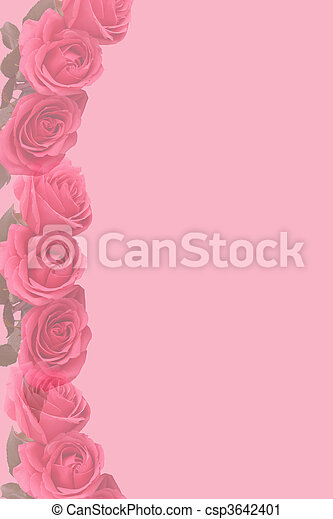 Pink faded  roses stationary - csp3642401