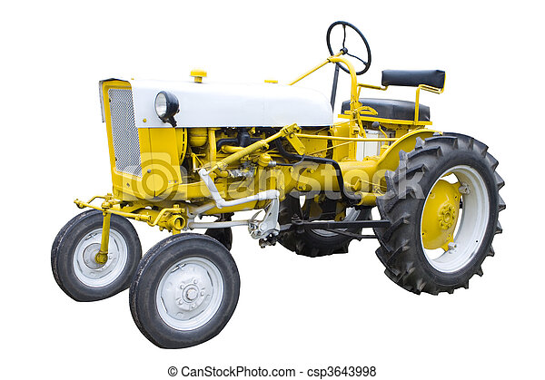 Yellow tractor - csp3643998