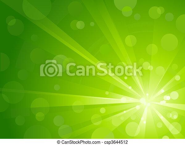 Green light burst with shiny light - csp3644512