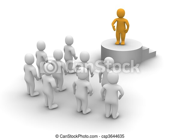 Speaker and audience. 3d rendered illustration. - csp3644635