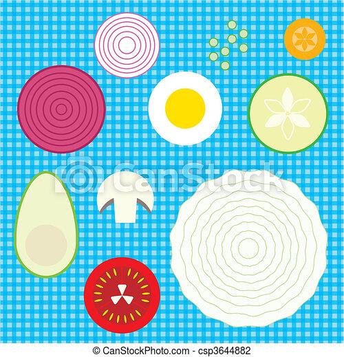 set of raw vegetables - csp3644882