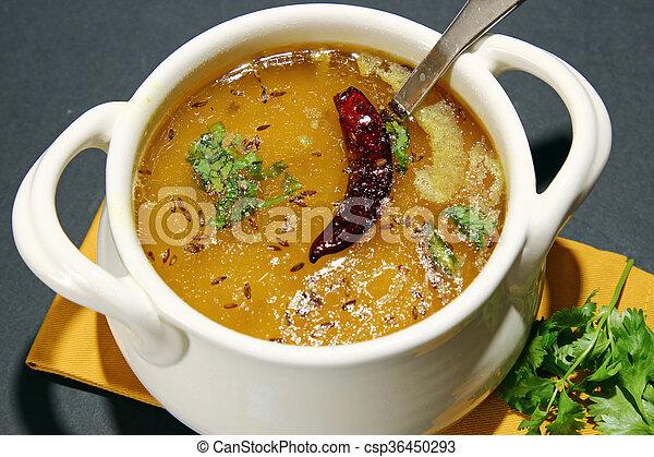 Arhar daal or lentil soup - csp36450293