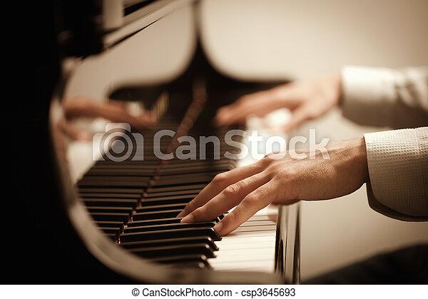 鋼琴 演奏, 人 - csp3645693
