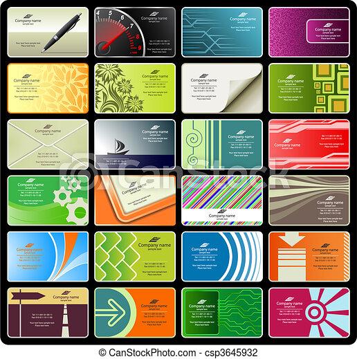 business cards (set 8) - csp3645932