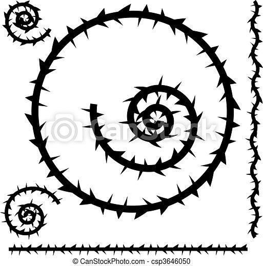 Vector Clip Art de espina, Conjunto csp3646050 - Buscar Clipart ...