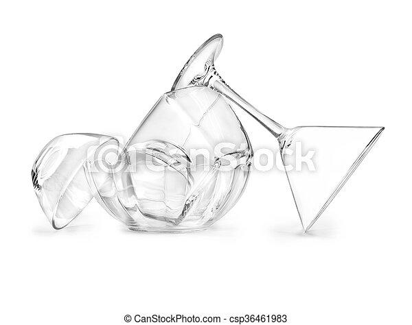 Glassware on a white background - csp36461983