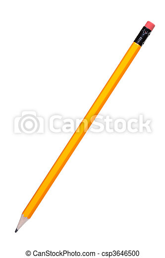 Pencil isolated on white - csp3646500