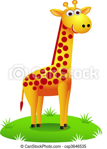 Giraffe cartoon - csp3646535