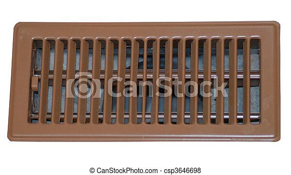 floor register or grate on white  - csp3646698