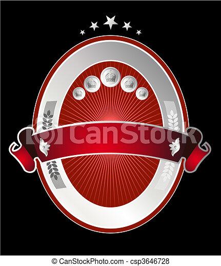Beer label - csp3646728